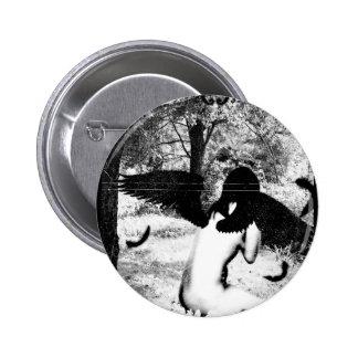 Vintage Angel ver Black White Buttons