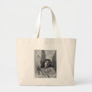Vintage Angel Victorian Christmas Canvas Bag