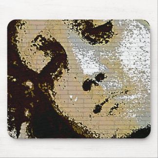 Vintage Angelic Statue Face Grunge Mouse Pad