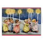 Vintage Angels Birthday Card