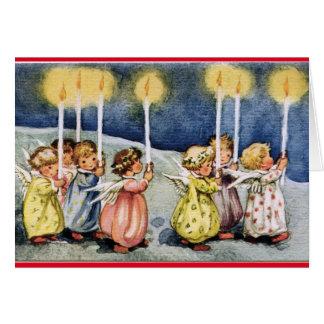 Vintage Angels Birthday Card