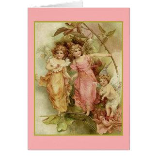 Vintage Angels Note Card