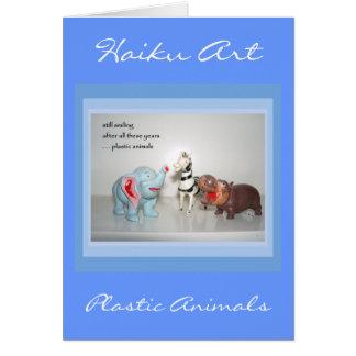 Vintage Animal Customizable Haiku Greeting Card