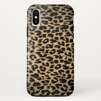 Vintage animal fur of leopard iPhone x case