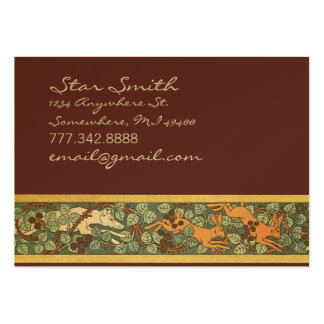 Vintage Animal Hunting Dog and Rabbits  Print Business Card Templates