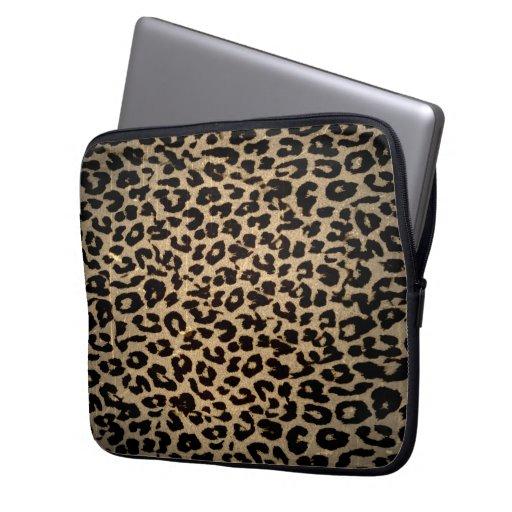Vintage Animal print fur of leopard Laptop Computer Sleeve