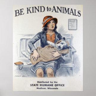 Vintage Animal Welfare Poster
