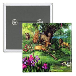 Vintage Animals 15 Cm Square Badge