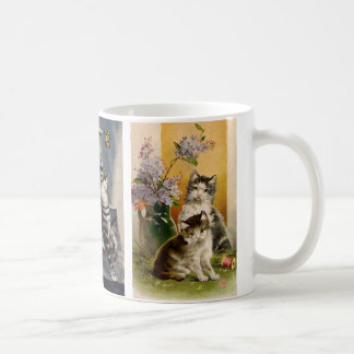 Vintage Animals, Cute Victorian Pet Kittens Coffee Mug