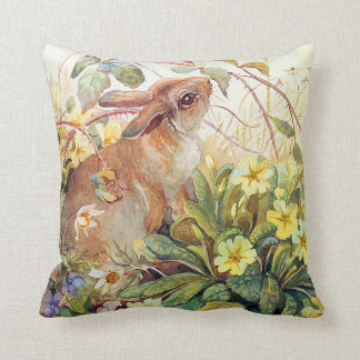vintage animals english countryside pillow cushion