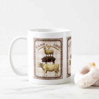 Vintage animals Farm life Nostalgic coffee mug