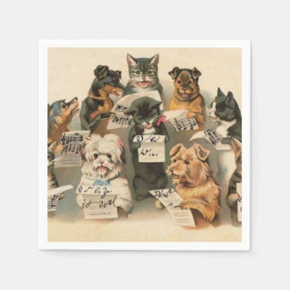 Vintage Animals fun paper napkins