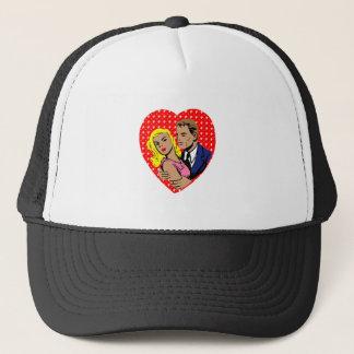 vintage anti valentine trucker hat