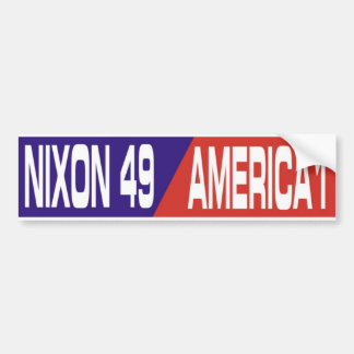 Vintage Anti Vietnam War Nixon Bumper Sticker 1969