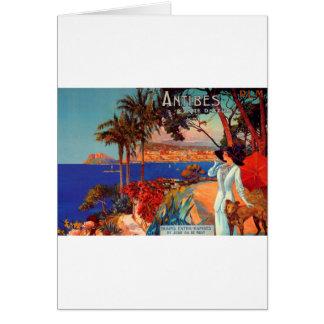 Vintage Antibes Cote D'Azur Travel Card