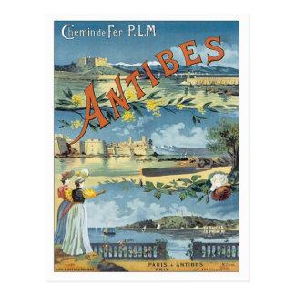Vintage Antibes Mediterranean Postcard