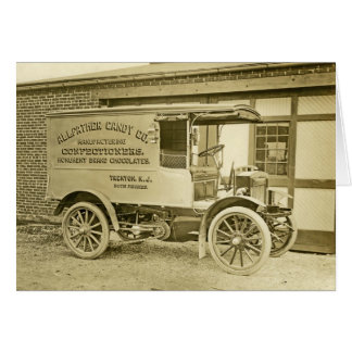 Vintage Antique Allfather Candy Co Truck Notecard