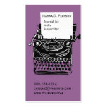 Vintage Antique Artistic Typewriter Writer Double-Sided Standard Business Cards (Pack Of 100)