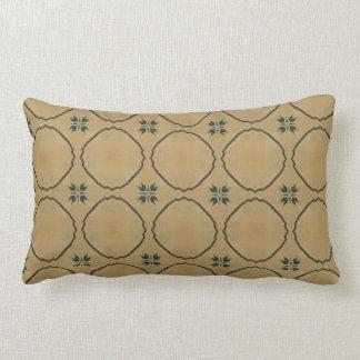 Vintage Antique Beige Geometric Pattern Pillow