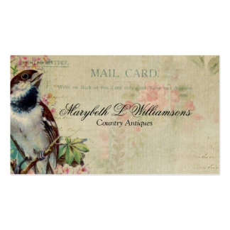 Vintage Antique Bird Postcard Business Card