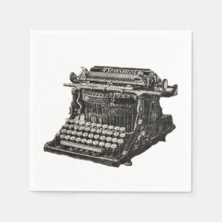 Vintage Antique Black Old Fashioned Typewriter Paper Napkin