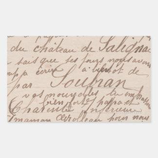 Vintage antique Calligraphy Sticker FromMyDesk Rectangular Sticker