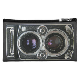Vintage Antique Camera Case Cover Makeup Bag