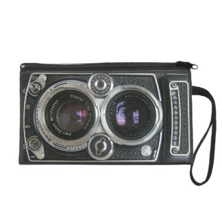 Vintage Antique Camera Case Cover Wristlet Purses
