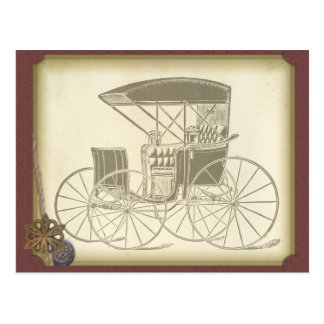 Vintage Antique Car For Him Design Postcard