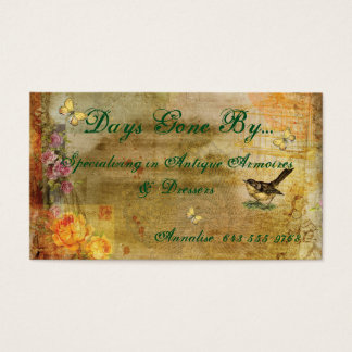 Vintage Antique Dealer Business Card