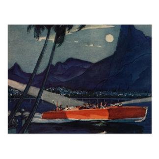 Vintage Antique Dodge Motor Boat Lycoming Sea Postcard