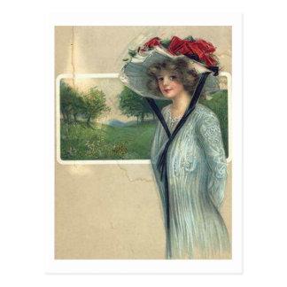 Vintage Antique Fashions Postcard