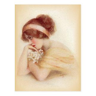 Vintage Antique Flappers, Portraits of Women, Postcard