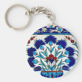 Vintage Antique Floral Abstract Turkish tiles Key Ring