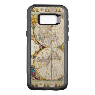 Vintage Antique French Map of the World Circa 1755 OtterBox Commuter Samsung Galaxy S8+ Case