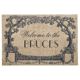 Vintage Antique French Tree Frame Personalised Doormat