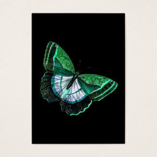 Vintage Antique Green Butterfly 1800s Illustration Business Card