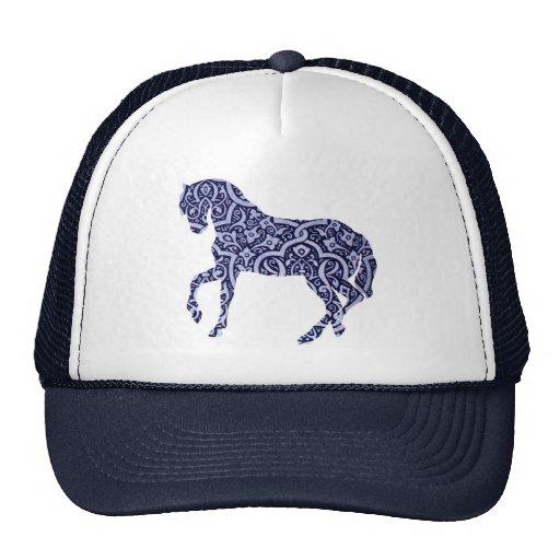 Vintage Antique Horse Pattern Decorative Design Hat