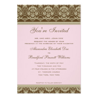 Vintage Antique Lace Wedding Invitation :: blush