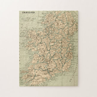 Vintage Antique Map Ireland Republic Northern Jigsaw Puzzle