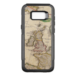 Vintage Antique Map of the United Kingdom OtterBox Commuter Samsung Galaxy S8+ Case