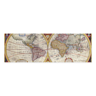 Vintage Antique Old World Map cartography Pack Of Skinny Business Cards