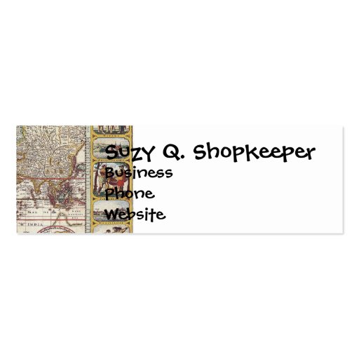 Vintage Antique Old World Map Design Faded Print Business Cards