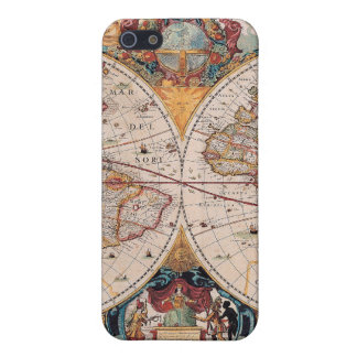 Vintage Antique Old World Map Design Faded Print iPhone 5/5S Case