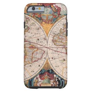 Vintage Antique Old World Map Design Faded Tough iPhone 6 Case