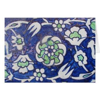 Vintage Antique Ottoman Style ceramic tile Card