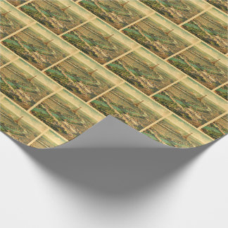 Vintage Antique Paris Print Wrapping Paper