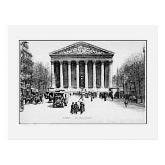 Vintage antique Paris Rue Royale Madeleine church Postcard
