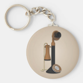 Vintage Antique Phone Keychain