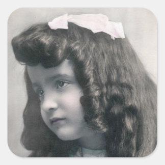 Vintage antique Photo Sticker FromMyDesk Square Sticker
